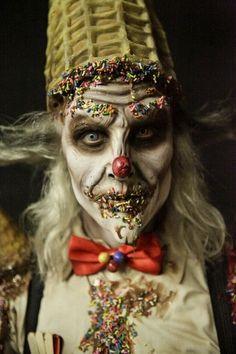 Ice cream clown. Terrifying