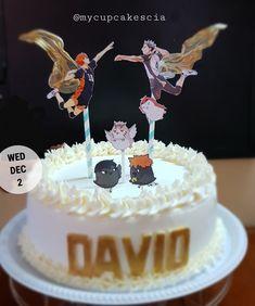 Themed Birthday Cakes, 12th Birthday, Themed Cakes, Birthday Party Themes, Anime Cake, Haikyuu Kageyama, Dream Cake, Diy Cake, Cake Designs
