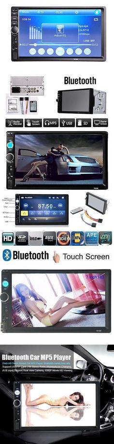 Video In-Dash Units w GPS: 2 Din 7 Inch Car Stereo Dvd Multimedia Player Bluetooth Radio Fm Aux Input Hd Wp BUY IT NOW ONLY: $51.93
