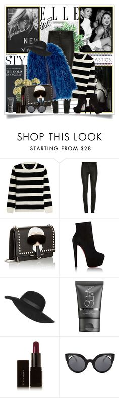 """""""BERLIN"""" by gglamgirl ❤ liked on Polyvore featuring Chanel, The Kooples, Fendi, Christian Louboutin, Topshop, NARS Cosmetics, Illamasqua, Lux-Art Silks, women's clothing and women"""