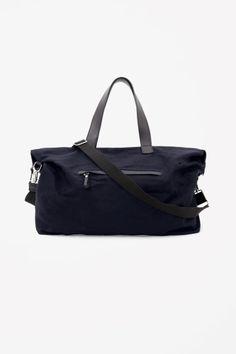 Cos Black Cotton Canvas Bag