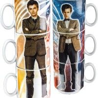 Doctor Who 10th and 11th Doctor Stacked Mugs