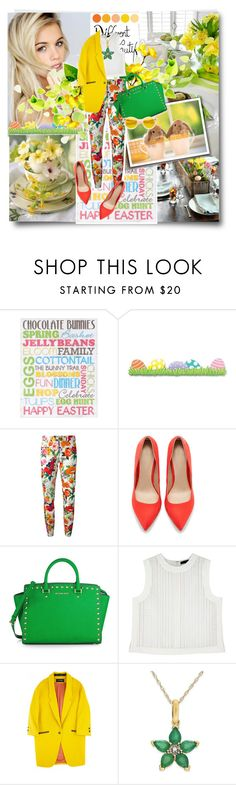 """""""Happy Easter Dear Friends!"""" by nastya-d ❤ liked on Polyvore featuring Moschino, Zara, MICHAEL Michael Kors, Alexander Wang, Cacharel, Easter, HappyEaster and easter2014"""