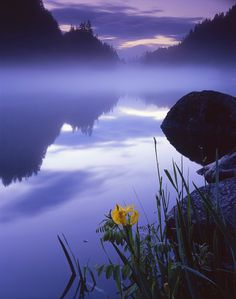 White Salmon River in Washington - morning serene. Nothing like when rafting in the afternoon!