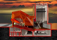 Galeria de Teatro Municipal Chacao / ODA - 18 Cultural Architecture, Dance Hall Architecture, Architecture Design, Architecture Board, Diego Luna, Auditorium Design, Theater, Sport Hall, Architectural Section