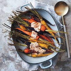 Bursting with delicious flavour, these roasted carrots with chilli and cumin yoghurt dressing will become a winter favourite. Serve it as a colourful side