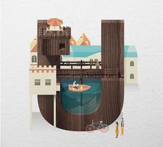Loving this #typeface based around resorts by Jing Zhang!