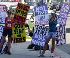 """Westboro Baptist Church tells members to """"pray for people to die"""": """"What a bat-shit crazy, hateful and ignorant bunch.""""db."""
