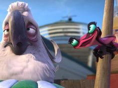 Somehow the songs in Rio 2 were worse than the original, but with an even worse plot line. Oh well, at least Chenoweth was funny. Cartoon Icons, Cartoon Movies, Movie Characters, Disney Pixar, Disney Animation, Animation Movies, Rio 2, Blue Sky Movie, Rio Movie