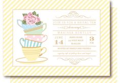 Bridal Tea Shower Invitations. $20.00, via Etsy.