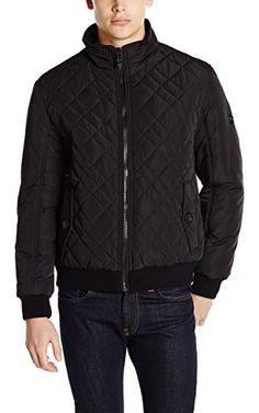fe56d1e4e37 Calvin Klein Men's Quilted Bomber, Black, XX-Large ❤ Calvin Klein Mens  Outerwear