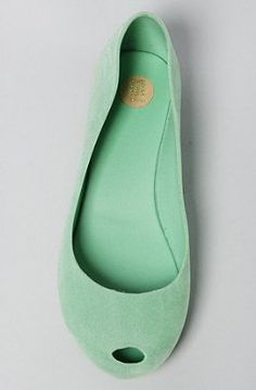 Amazon.com: Melissa Shoes The Ultragirl Shoe in Mint Flocked: Shoes