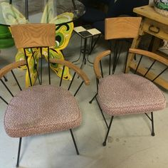 Great retro chairs to recover at Coxsackie Antique Center NY