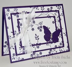 Triple Stamp Once Card  Elegant Butterfly by thesachsgirl - Cards and Paper Crafts at Splitcoaststampers