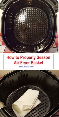 This article on How to Properly Season Air Fryer Basket to Prevent Sticking, will help teach you how to prevent moststicking issues. via @thisoldgalcooks