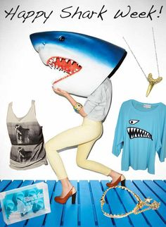 Fashion and Sharks, Not Mutually Exclusive: Happy Shark Week!