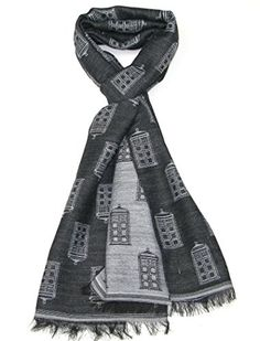 TARDIS Scarf - Buy Official BBC Doctor Who Scarf by LOVARZI Red & BLue