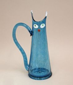 Cat Pitcher Prototype by Peter Sis (Czech designer, b. 1949) for GlassLab (2012)