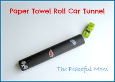 Paper Towel Roll Car Tunnel--