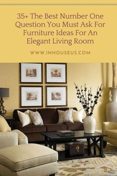 35+ The Best Number One Question You Must Ask For Furniture Ideas For An Elegant Living Room #furniture #furniturelivingroom Dark Wood Furniture, Living Room Furniture, Furniture Ideas, Elegant Living Room, Living Room Sets, White Walls, Color Mixing, The Best, Gallery Wall