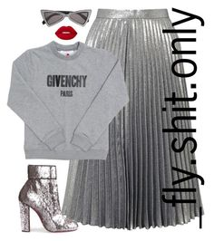 """""""Untitled #2772"""" by flyyshitonly ❤ liked on Polyvore featuring Miss Selfridge, Givenchy, Yves Saint Laurent, Lime Crime and Christian Louboutin"""