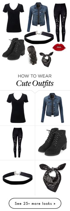 """Cute outfit"" by sepherahhenderson on Polyvore featuring LE3NO, Topshop, Miss Selfridge and Alexander McQueen"