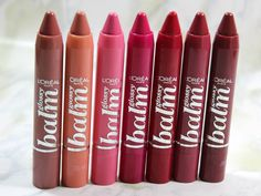 L'Oreal Paris Colour Rich Balm Crayon: Lovely Mocha, Ginger Cndy, My Babydoll, Pink Me Up, Baby Berry, Vintage Rose, Petite Plum