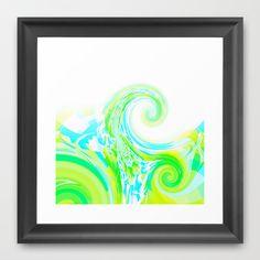 Re-Created  Tsunami THREE Framed Art Print by Robert S. Lee - $35.00