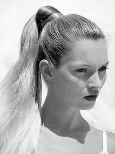 "vogue: ""From Beyoncé to Kate Moss–there is no denying the power ponytail has become a status symbol. Here, see 7 bombshells who immortalized the hairstyle. Photographed by Bruce Weber, Vogue, June. My Hairstyle, Ponytail Hairstyles, Chic Hairstyles, Beauty Photography, Photography Magazine, Editorial Photography, Queen Kate, Bruce Weber, High Ponytails"