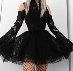 Kids fashion Outfits Winter - Kids fashion For 10 Year Olds Mom - - - Gothic Outfits, Edgy Outfits, Mode Outfits, Cute Casual Outfits, Pretty Outfits, Pretty Dresses, Beautiful Dresses, Gothic Lolita Fashion, Grunge Outfits
