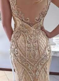 Resultado de imagen para vestidos con bordados en pedreria