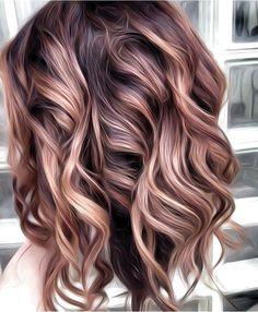 Fall Hair Color Ideas For You ; art Perfect Fall Hair Color Ideas For You Gold Hair Colors, Ombre Hair Color, Hair Color Balayage, Fall Balayage, Subtle Balayage, Grey Ombre, Caramel Balayage, Rose Gold Balayage Brunettes, Caramel Hair