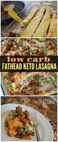 "This delicious recipe replaces traditional lasagna noodles with Keto friendly ""Fathead"" dough as a genius low carb idea!"