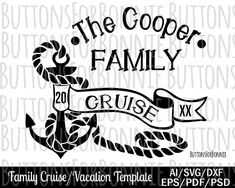 Family cruise svg, cruise svg, cruise shirt, cruise shirt svg, vacation, beach svg, anchor, ocean svg, template, cut file, palm tree svg by ButtonsForBonnie on Etsy