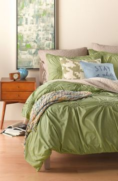 Fresh green bedding for spring.