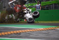 Marcus Ericsson, Alfa Romeo Sauber suffered a big crash in at Italian Grand Prix, Monza - Friday 31 August 2018 Marcus Ericsson, Italian Grand Prix, F1 News, F1 Racing, Baseball Field, Race Cars, Britain, Alfa Romeo, Formula 1