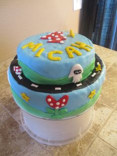 ...Mario Kart birthday cake...boys birthday...
