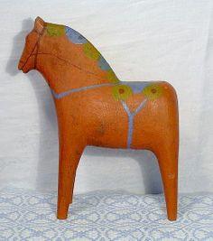 Dala horse from Dalahästen, A Cultural Treasure, an encyclopedia of Dalahorses created by Göran Samuelsson, Siv Samuelsson and Johan Nordström