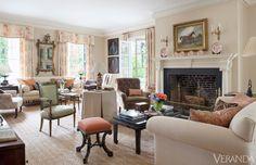 Historic Virgina home restored by Allan Greenberg with interiors designed by Amelia Handegan.  via Veranda