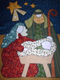 Patchwork y manualidades: Nacimiento Art to Heart Christmas Wall Hangings, Felt Christmas Decorations, Christmas Nativity, Christmas Stockings, Christmas Sweaters, Xmas Crafts, Felt Crafts, Sewing Appliques, Penny Rugs