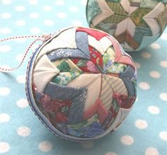 Quilted Christmas Ornaments (tutorial included)