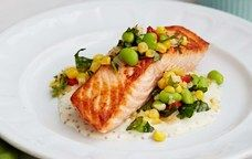 Recipe: Pan-Roasted Salmon with Summer Succotash by Giada De Laurentiis