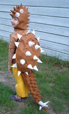 Custom Designed Ankylosaurus Costume in Brown by AlphabetCircus