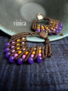 vinica / Zaina - earrings - micromacrame