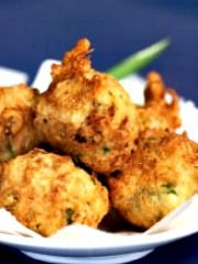 Crab and Roasted Red Pepper Beignets with Herbed Aioli