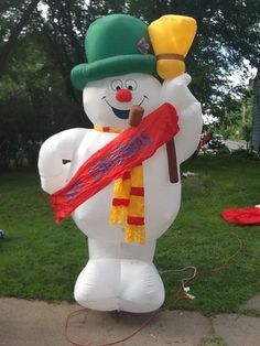 Airblown Inflatable Frosty The Snowman From The Classic Cartoon