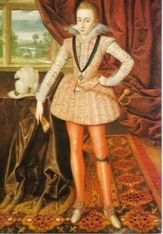 Henry Frederick, Prince of Wales, the eldest son of James I. Henry died suddenly as a teenager and his younger brother became the unfortunate Charles I.