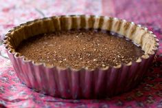 Bittersweet Chocolate Tart. The little black dress of my tart repertoire - bittersweet chocolate with a thin brown sugar crust. The filling is a dark chocolate ganache, the consistency of thick frosting, set off by the crispness of the crust.  {recipe}