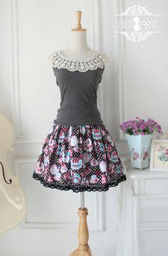 Original design ♥ ♥ Afternoon Tea - Cute fairy cake sweet lolita style skirt SK ♥ two colors - Taobao