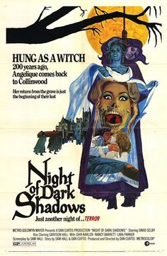 Night of Dark Shadows is a 1971 horror film by Dan Curtis. It is the sequel to House of Dark Shadows. It centers on the story of Quentin Collins and his bride Tracy at the Collinwood Mansion in Collinsport, Maine. wiki